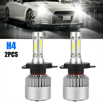 2X H4 HB2 9003 1200W 180000LM CREE LED Headlight Kit Hi/Lo Beam Bulb White 6000K