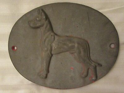Dimensional Metal Dog ? Great Dane Wall Plaque / Sign
