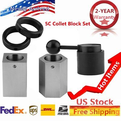 AccusizeTools - Collet block Chucks for 5C Round, Hex or Square Collets NEW QC