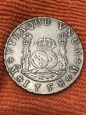 Mexico 8 Reales Silver 1758 Ferdinand VI Weight 24.50 Weathered Edge Forgery???