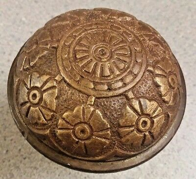Antique Ornate Eastlake Bronze Brass Door Knob Hopkins Dickinson K 21310