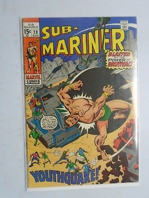 Marvel Comics Group Sub-Mariner Blasted By The Power Of Brutivac # 28 5.0 (1970)