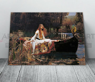 John William Waterhouse The Lady Of Shallot Canvas Print Framed Art Picture