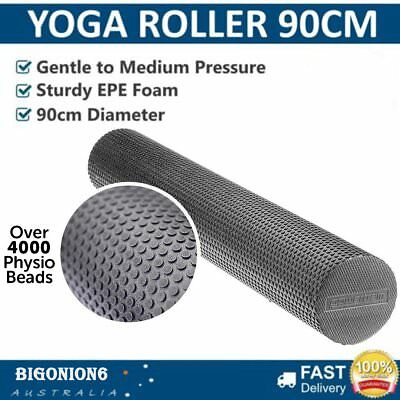 Yoga Roller EVA Foam Pilates Back Massage Exercise Gym Physio Pilates 90cm LS