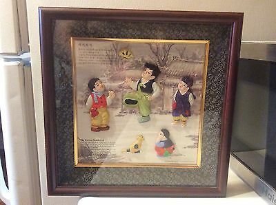 Shadow Box art piece The Korean shuttlecock Game played by young boys