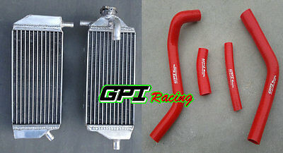 Aluminum Radiator + Red Hose For Yamaha Yz450F Yzf450 Yz 450F 2014 2015 2016