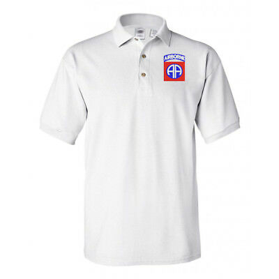 82ND AIRBORNE White Polo shirt poloshirt