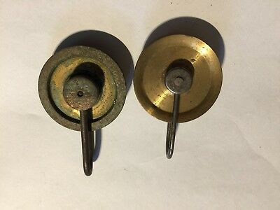 2 brass and steel pulleys one thirty hour other 8 day new old stock longcase
