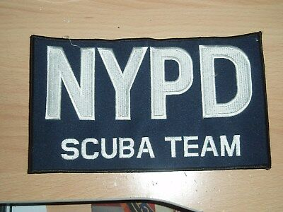 Nypd  Patch  Rückenpatch Scuba Team