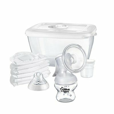 New Tommee Tippee Closer Nature Manual Breast Pump Bottle Kit BPA Free Brand New