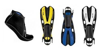 Mares Volo One Snorkel Fins gr. 35 Bis 47 various colours with Neoprene Socks