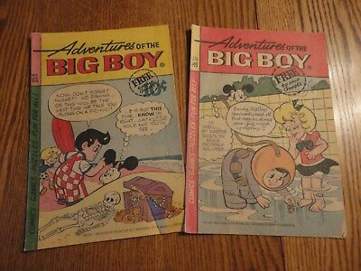 Lot of 2 vintage ADVENTURES OF THE BIG BOY COMIC Books 155 & 145