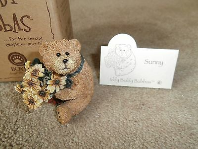 NIB Boyd's Bears Iddy Biddy Bubbas Sunny...Bear with flowers...Thanks a Bunch!