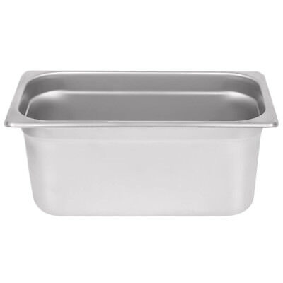 """1/3 Size 6"""" Deep Stainless Steel Steam Table Hotel Pan"""