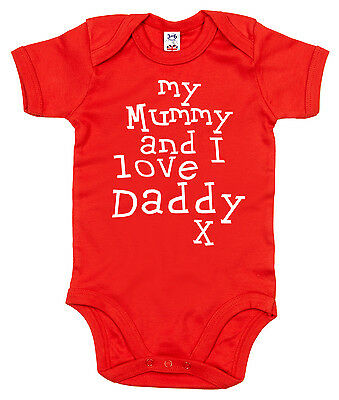 "Baby Body /"" I Love My Mutti This Much /"" Getrimmt Strampler Mutter Tag Geschenk"