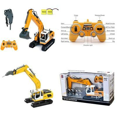 RC Excavator Tractor Toy Construction Vehicles 17 Channel Truck Metal Shovel HOT