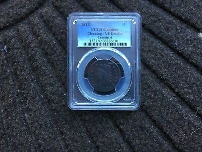 PCGS graded 1814 classic large cent VF