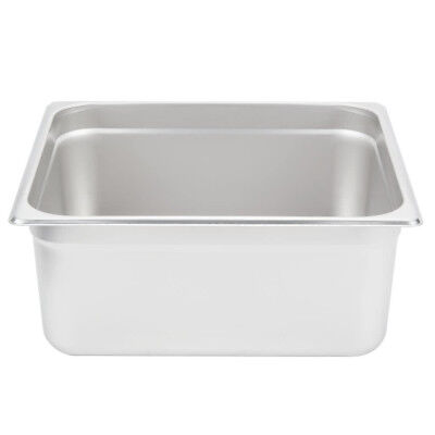 """(6-Pack) 2/3 Size 6"""" Deep Stainless Steel Steam Table Hotel Pans"""