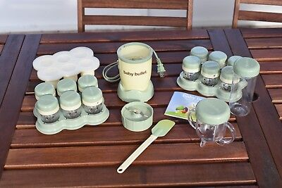 Magic Bullet Baby Bullet System **Works Good** 18 Pieces