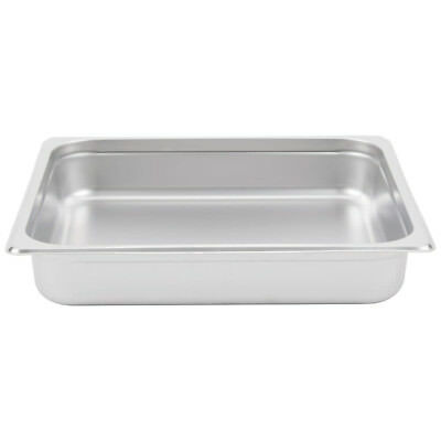 """(6-Pack) 2/3 Size 2 1/2"""" Deep Stainless Steel Steam Table Hotel Pans"""