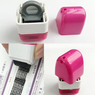 Confidential Stamp Roller Identity Theft Privacy Protection Hide Security Seal