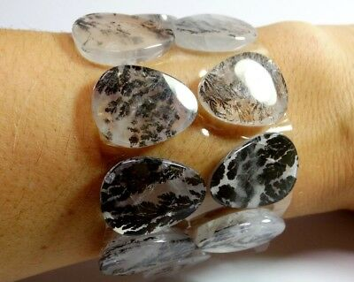 Dendrite Quartz 198.90ct 19x18x5mm 10 pieces oval flat cut, for bracelet, Brazil