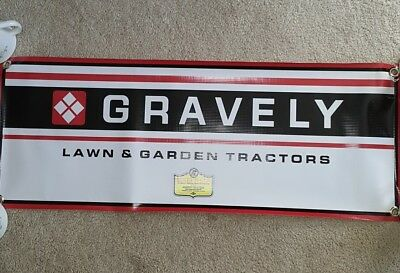 Gravely Tractor Banner Lawn Garden Sign