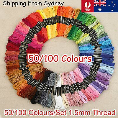 50-100Pcs Multi Colours Sewing Threads Roll Set Assorted DIY Spools Polyester Re