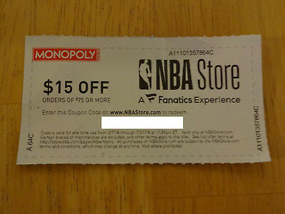 NBA Store NBAStore.com - 15% Off Orders of $75 or More Coupon Code - Exp 7/31/18