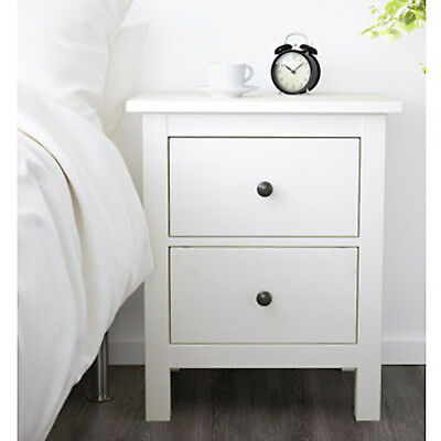 ikea hemnes kommode mit 2 schubladen wei nachtkonsole nachttisch schrank neu eur 99 00. Black Bedroom Furniture Sets. Home Design Ideas