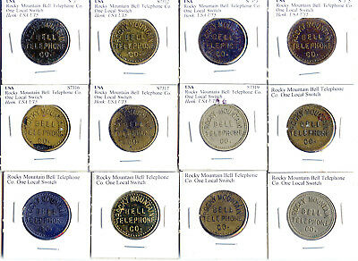 Telephone Tokens -  12 Rocky Mountain Bell Telephone Co. One Local Switch- L103