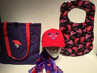 Red Hat Ladies Society Hat/scarf/tote And Bib