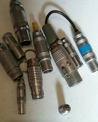 Lemo connector parts lot various sizes. From camera equipment Steadicam. Arri, P