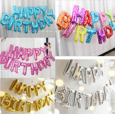 New Large Happy Birthday Self Inflating Balloon Banner Party Decorations Ballons