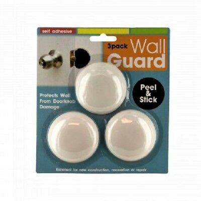 3Pc Door Knob Wall Shield Round White Self Adhesive Protector Prevents  Holes New