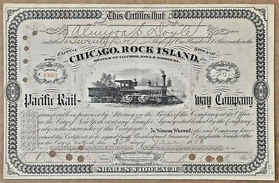 Chicago, Rock Island and Pacific Rail-Way Company 1888 stock certificate