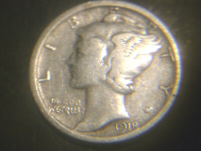 1918-S Mercury Dime In Very/nice Condition..add To Set Or Collection.