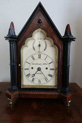 Brockbank and Atkins twin fusee small bracket clock London C1820