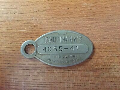Vintage Kaufmann's Dept Store Charge Keychain Tag Credit Fifth Ave Pittsburgh Pa