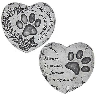 Heart Shaped Pet Memorial Plaque Memory Stone - Dog or Cat