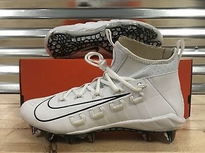 Nike Alpha Huarache 6 Elite Lax Lacrosse Cleats White Black SZ ( 880409-111 )