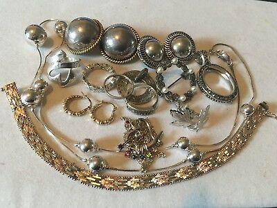 Another Lot of Sterling Silver Jewelry Some Scrap Some Not Over 100 Total Grams
