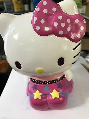"""Hello Kitty Collectible Ceramic Piggy Bank - Seated Position 6.5"""" Tall"""