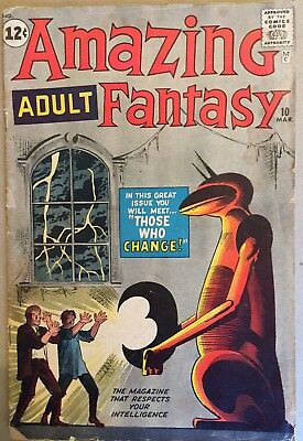 Amazing Adult Fantasy #10 (Marvel: March 1962)  GD+ Condition