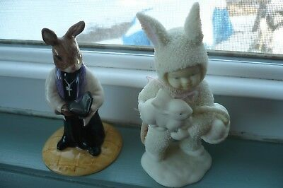 Vintage Lot Of Two Easter Figurines Royal Doulton Dept. 56