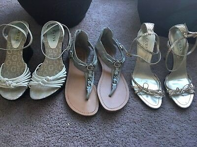 Guess Lot Of Shoes Womans Size 7.5. Sandals/heel/wedge