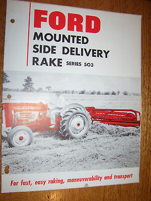 Vintage Ford Tractor Advertising Brochure - # 503 Mounted  Hay Rake