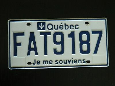 2003 Quebec commercial license plate word FAT! FAT9187