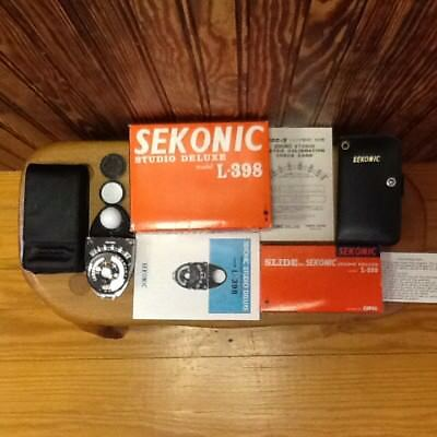 Sekonic L-398 Studio Deluxe Meter & 13 Piece Slide Kit w/ Boxes & Ins. EXCELLENT