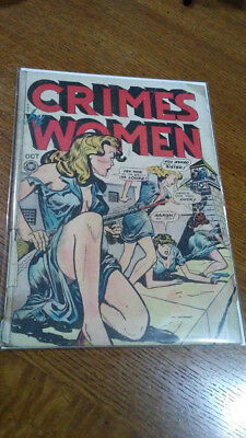 Crimes by Women #3 and #54 GGA crime comic book lot